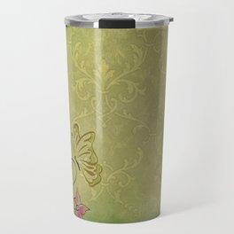 Texture Paper Background Flowers Travel Mug