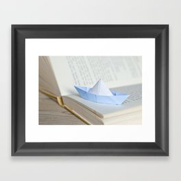 Little paper boat Framed Art Print