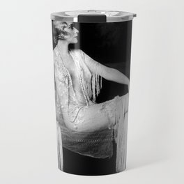Muriel Finlay, Ziegfeld Follies Jazz Age black and white photograph Travel Mug