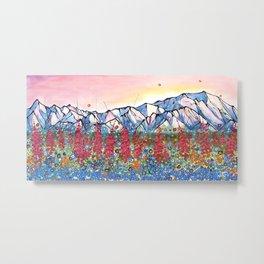 Denali Alpenglow Metal Print