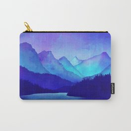 Cerulean Blue Mountains Carry-All Pouch