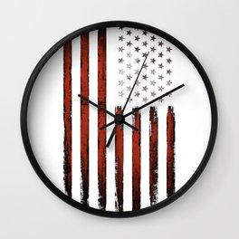 American flag Stars & stripes Wall Clock