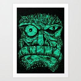 The ork inside Art Print