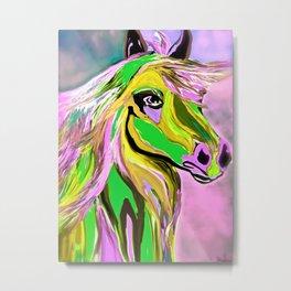 Horse Posing Pretty Oil Metal Print