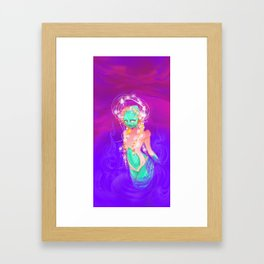 The Alien Goddess Framed Art Print