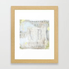 Artisan ABCs Framed Art Print