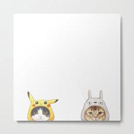 miyazaki cats Metal Print