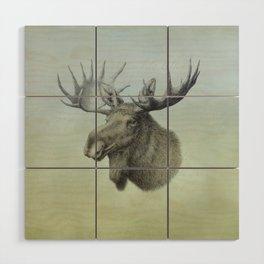 Moose, Elch, Elg Wood Wall Art