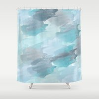 waterfall Shower Curtains featuring Waterfall by Zen and Chic