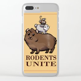 Rodents Unite! Clear iPhone Case