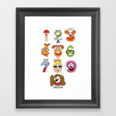Muppet Babies Numbers Framed Art Print