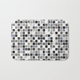 Checkered Past in Black and White Bath Mat