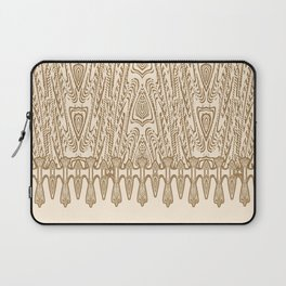 Sepia Macramé Arrowhead Chenille Lace Pattern Laptop Sleeve