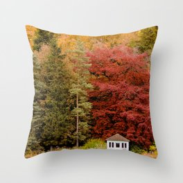 Autumn at the Summer House Throw Pillow