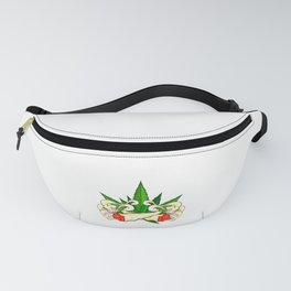Marijuana graphic for Cannabis Smoker With Fun Joint Design Fanny Pack