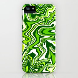 Green Glitter Agate Slice iPhone Case