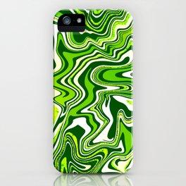 Green Glitter Agate Slice iPhone Case