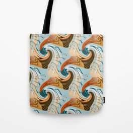 abstract waves pattern Tote Bag