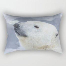 funny polar bear Rectangular Pillow