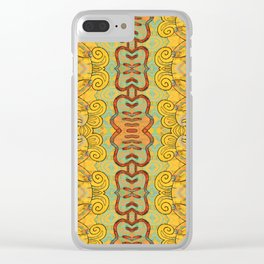 Boujee Boho Elegant Golden Charm Clear iPhone Case