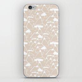 Mountain Scene in Beige iPhone Skin