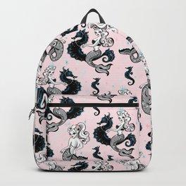 Pearla the Mermaid on Pink Backpack