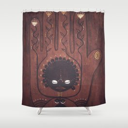 African Creation Goddess // Mother Mama Fertility Creator Creatrix Healing Wild Woman Ancestor Shower Curtain