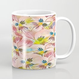 Abundance Of Pink Pansies Coffee Mug