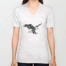 Bald eagle illustration Unisex V-Neck