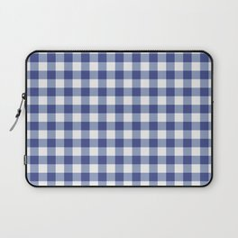 Blue and white tartan plaid. Laptop Sleeve