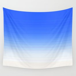 Sky Blue White Ombre Wall Tapestry
