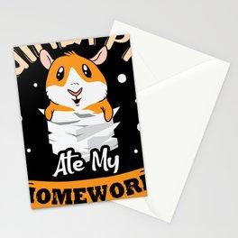 Ginea Pig ate my Homework cute hamster design Stationery Cards