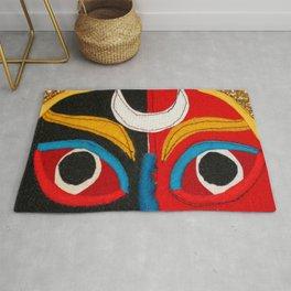 Tibetan Opera Mask Rug
