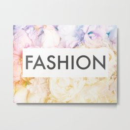 Fashion on a bed of peonies Metal Print