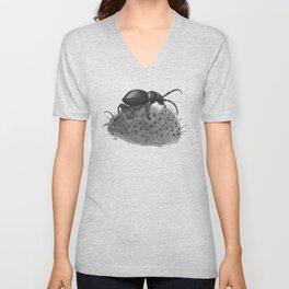 Inktobober 2016: Cactus Longhorn Beetle Unisex V-Neck