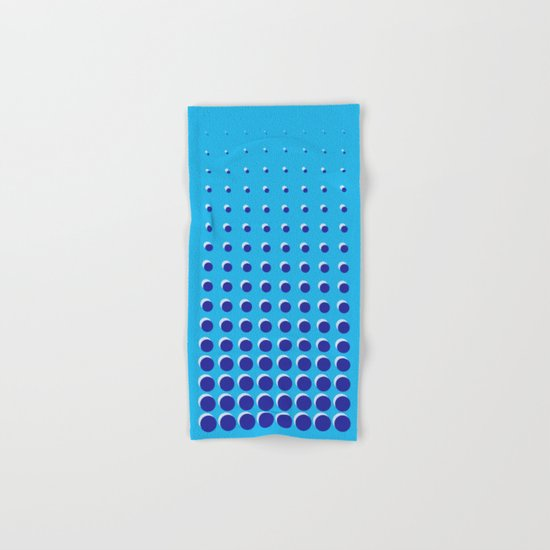Blue on blue grid - Optical game 14 Hand & Bath Towel