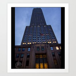 Empire State Building from Fifth Avenue Art Print