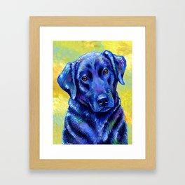 Colorful Labrador Retriever Dog Framed Art Print