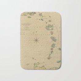 Map of the Caribbee, Granadilles & Virgin Isles (1789) Bath Mat