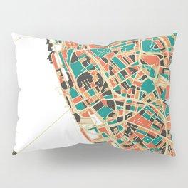 Liverpool City Map - Multicolour Pillow Sham