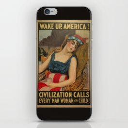 Old Propaganda Poster from 1917 modified to resonate with today's modern political climate. iPhone Skin