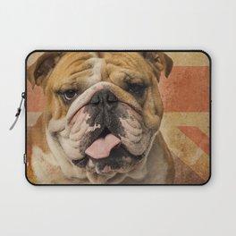 English Bulldog, Great Britain flag ! Laptop Sleeve