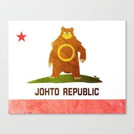 Ursaring - Johto Republic Canvas Print