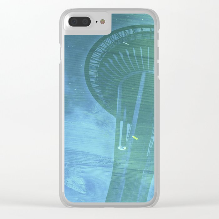 Space Needle - Infinitek Headquarters Seattle Clear iPhone Case