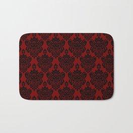 Crimson Damask Bath Mat