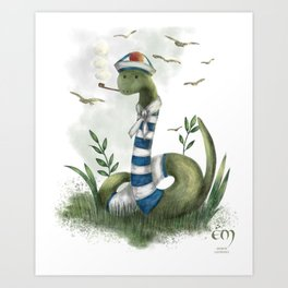 the marin snake Art Print
