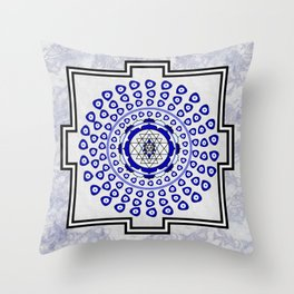 108 Evil Eye Sri Yantra Throw Pillow
