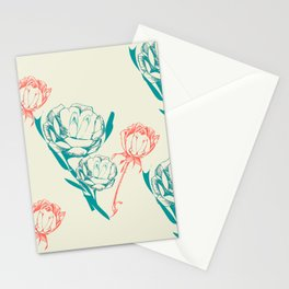 Phallic Floral Stationery Cards