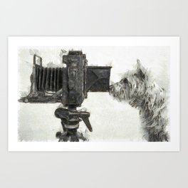 Pho Dog Grapher Art Print