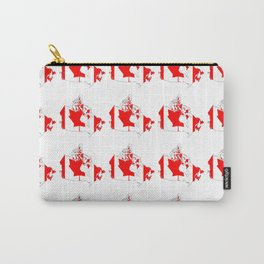 flag of canada 4-canadian,canadien,canadiense,ottawa,toronto,montreal. Carry-All Pouch